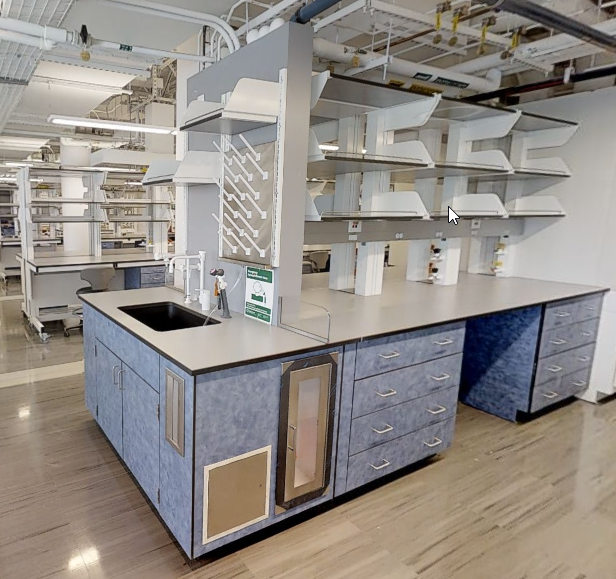 phenolic lab casework in NYU Rogers Hall- New York City, NY